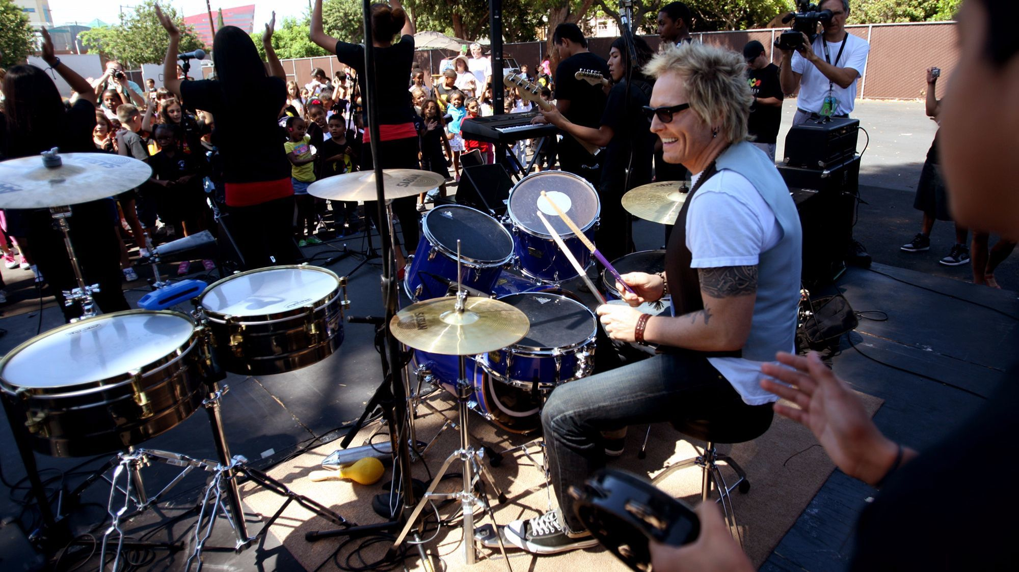 The ranch was originally owned by drummer Matt Sorum, formerly of Guns N' Roses.