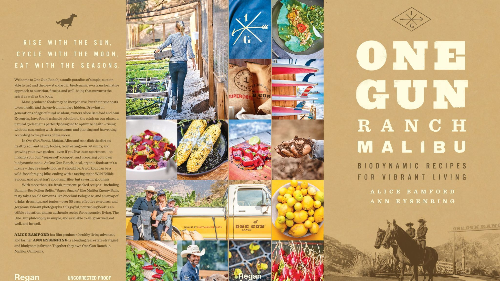 """One Gun Ranch Malibu: Biodynamic Recipes for Vibrant Living"" (Regan Arts, $40)"