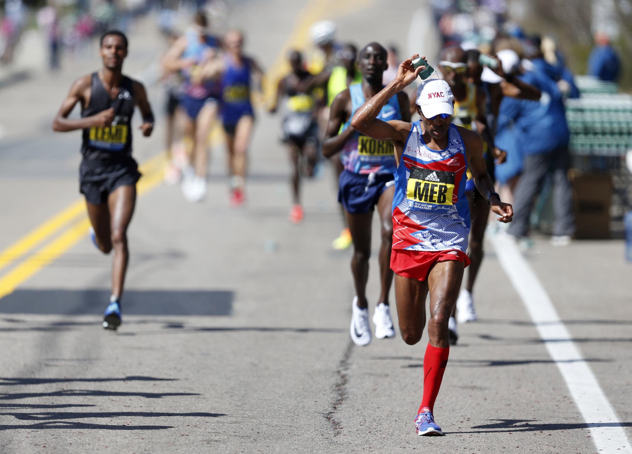 These Boston marathon finisher photos