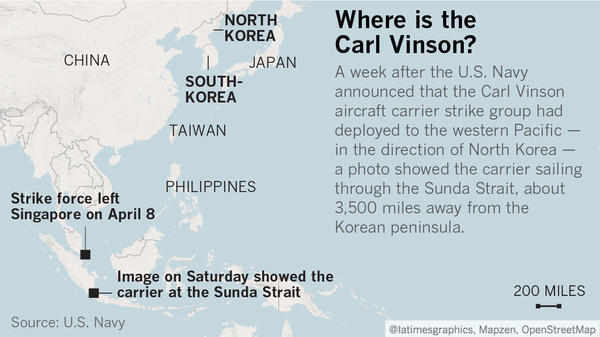 The Aircraft Carrier That The White House Said Was Headed To North - Us aircraft carriers deployment map