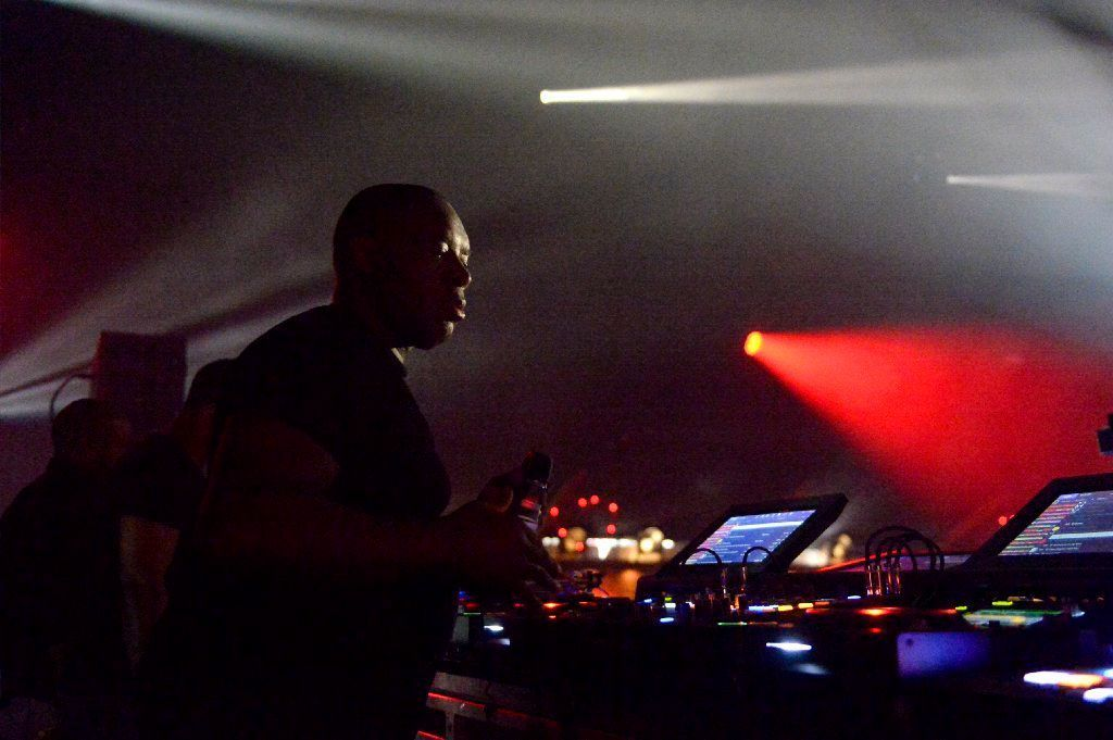 Kevin Saunderson of The Belleville Three performs at Coachella.
