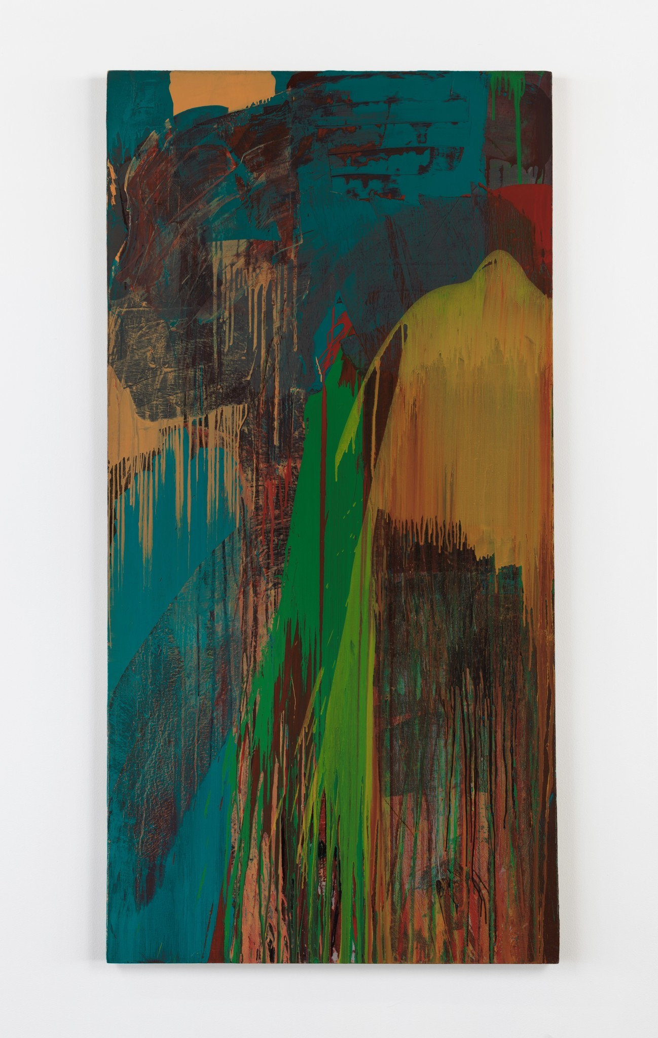 "David Reed, ""No. 3,"" 1972, oil on canvas, 76 inches by 38 inches."