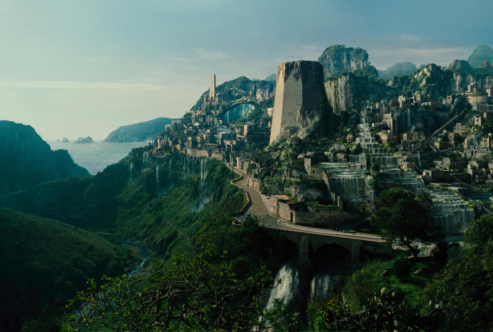 "A view of Themyscira from ""Wonder Woman."" (Warner Bros. Pictures)"