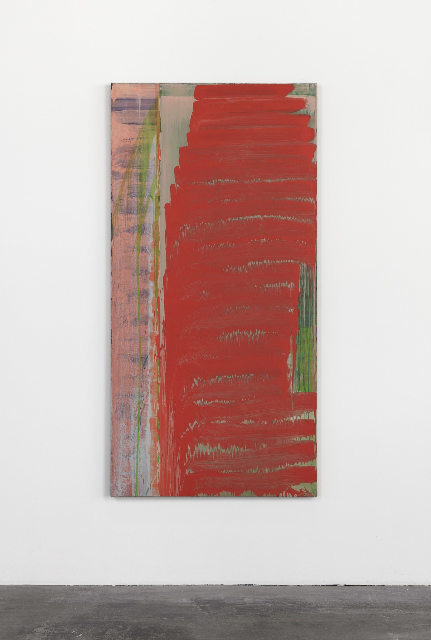 "David Reed's ""No. 18,"" 1974, oil on canvas, 76 inches by 38 inches"