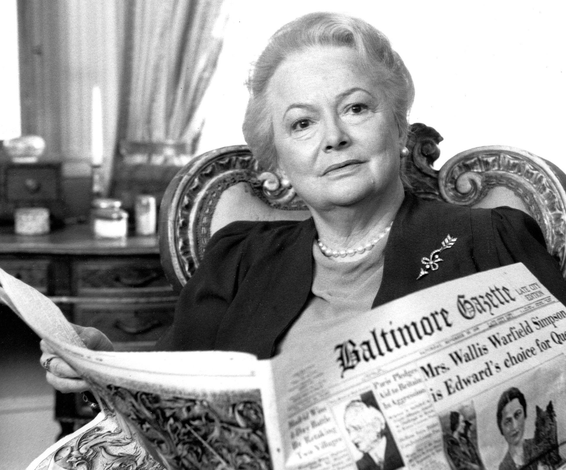 "Olivia de Havilland in ""The Woman He Loved."""