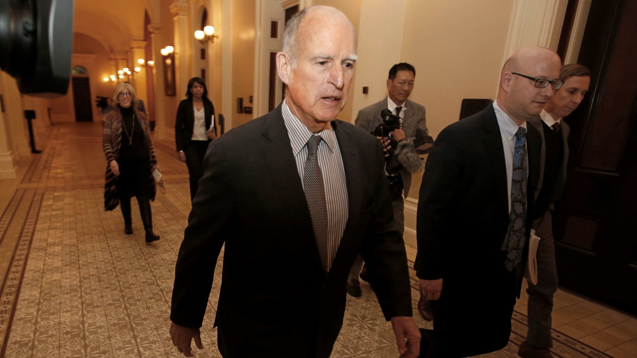 Gov. Jerry Brown is the elected state official who asks special interests to donate the most to his favored charities. (Rich Pedroncelli / Associated Press)