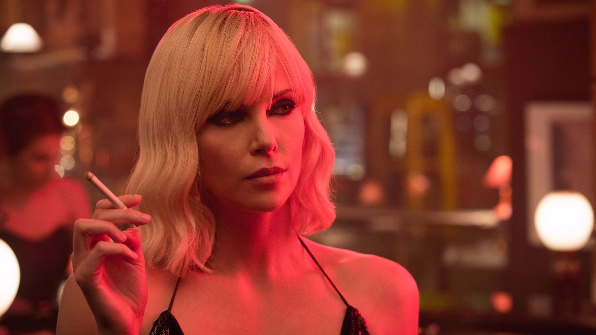 "Charlize Theron explodes into summer in ""Atomic Blonde."" (Jonathan Prime / Focus Features)"