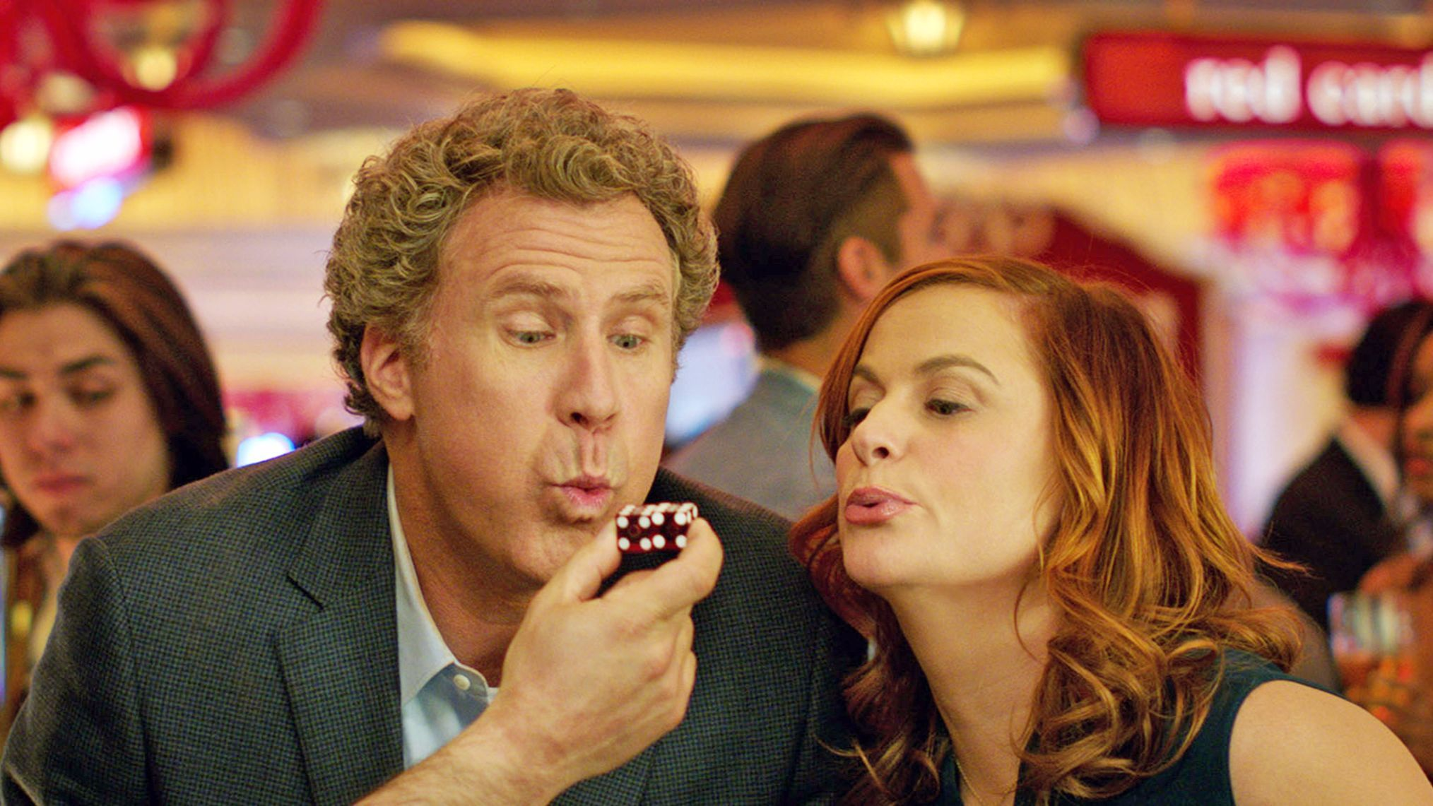 "Will Ferrell as Scott Johansen and Amy Poehler as Kate Johansen in the New Line Cinema and Village Roadshow Pictures comedy ""The House."""