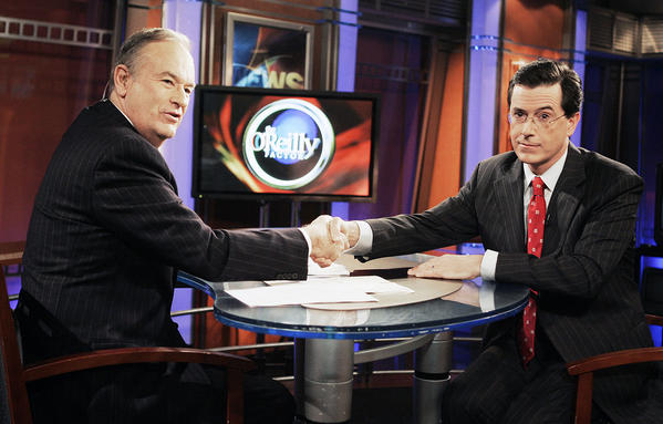 Stephen Colbert and 'Stephen Colbert' bid farewell to Bill O'Reilly