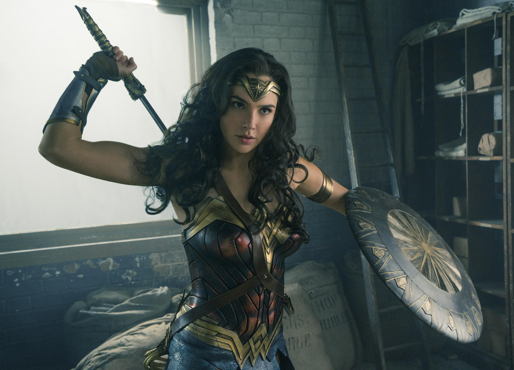 "Gal Gadot stars as the title character in ""Wonder Woman."""