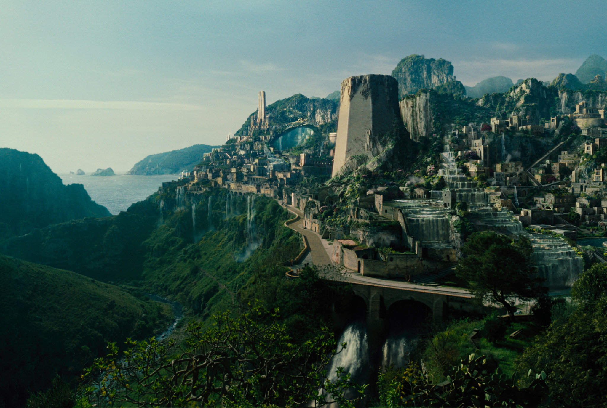 The island paradise of Themyscira is home of the Amazons and Wonder Woman's homeland.