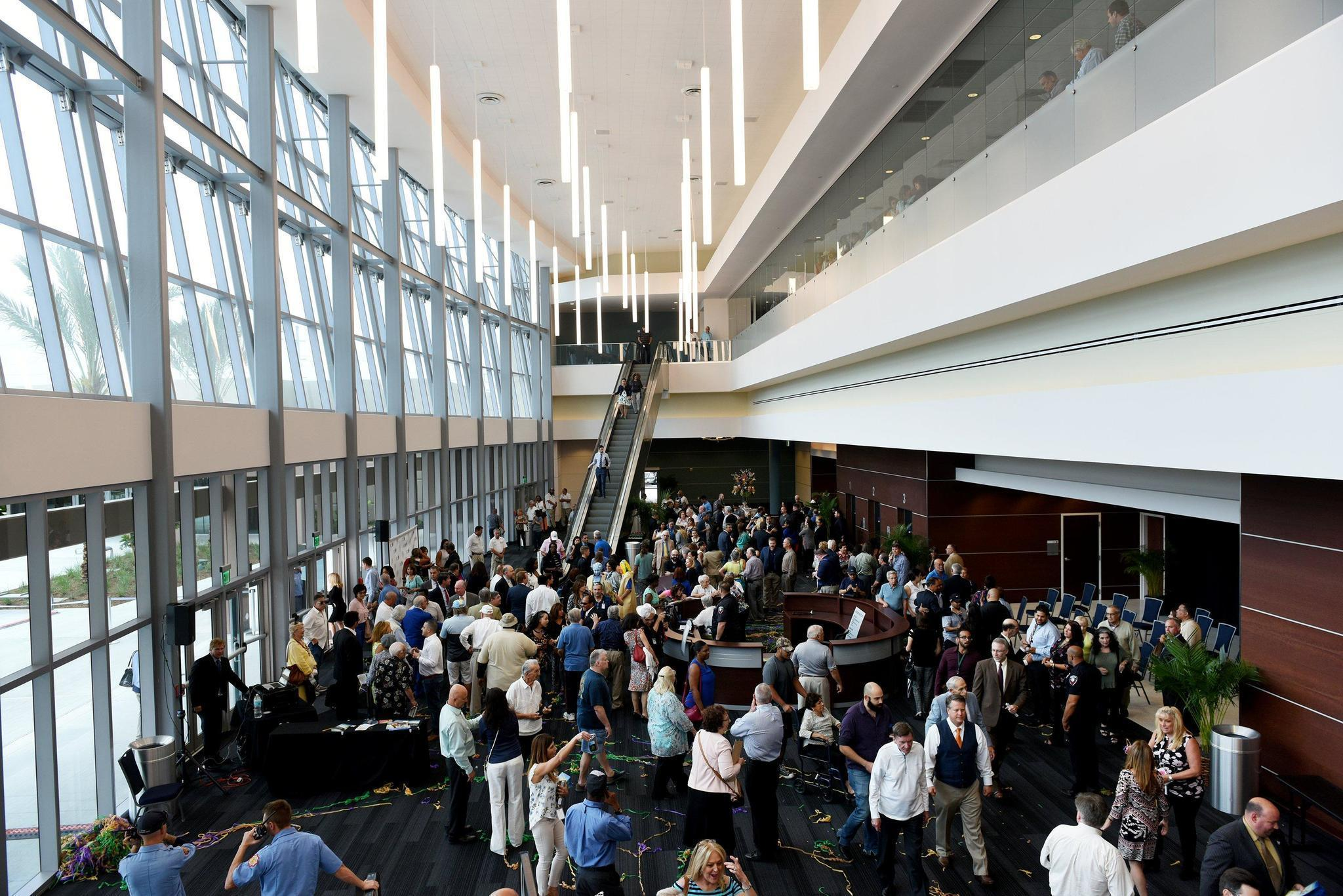 pines officials celebrate opening   city center sun sentinel