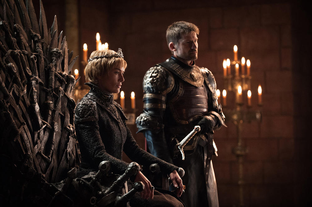 "Lena Headey as Cersei Lannister and Nikolaj Coster-Waldau as Jaime Lannister in ""Game of Thrones."" (Helen Sloan / HBO)"