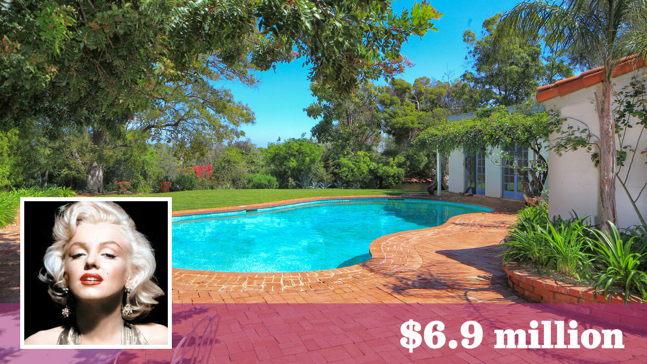 Marilyn Monroes House Brentwood Home Where Marilyn Monroe Died Lists For Sale At $6.9