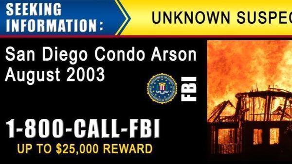 FBI offers $25,000 reward to help solve eco-terror arson case