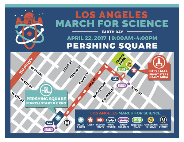 Your guide to the March for Science in downtown L.A.