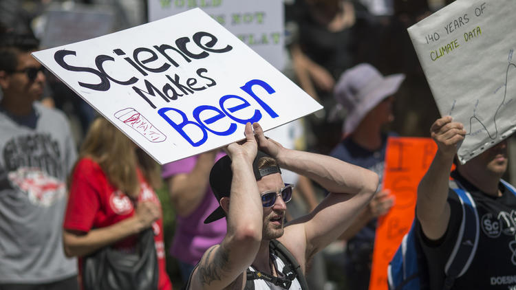 Here Are Some Of The Best Signs At The March For Science In LA - The 20 funniest signs spotted at the march for science