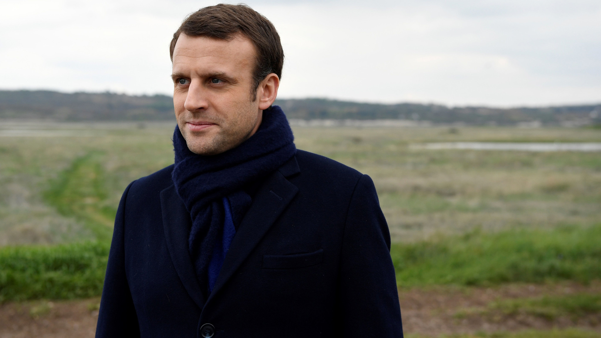 French presidential election candidate Emmanuel Macron.