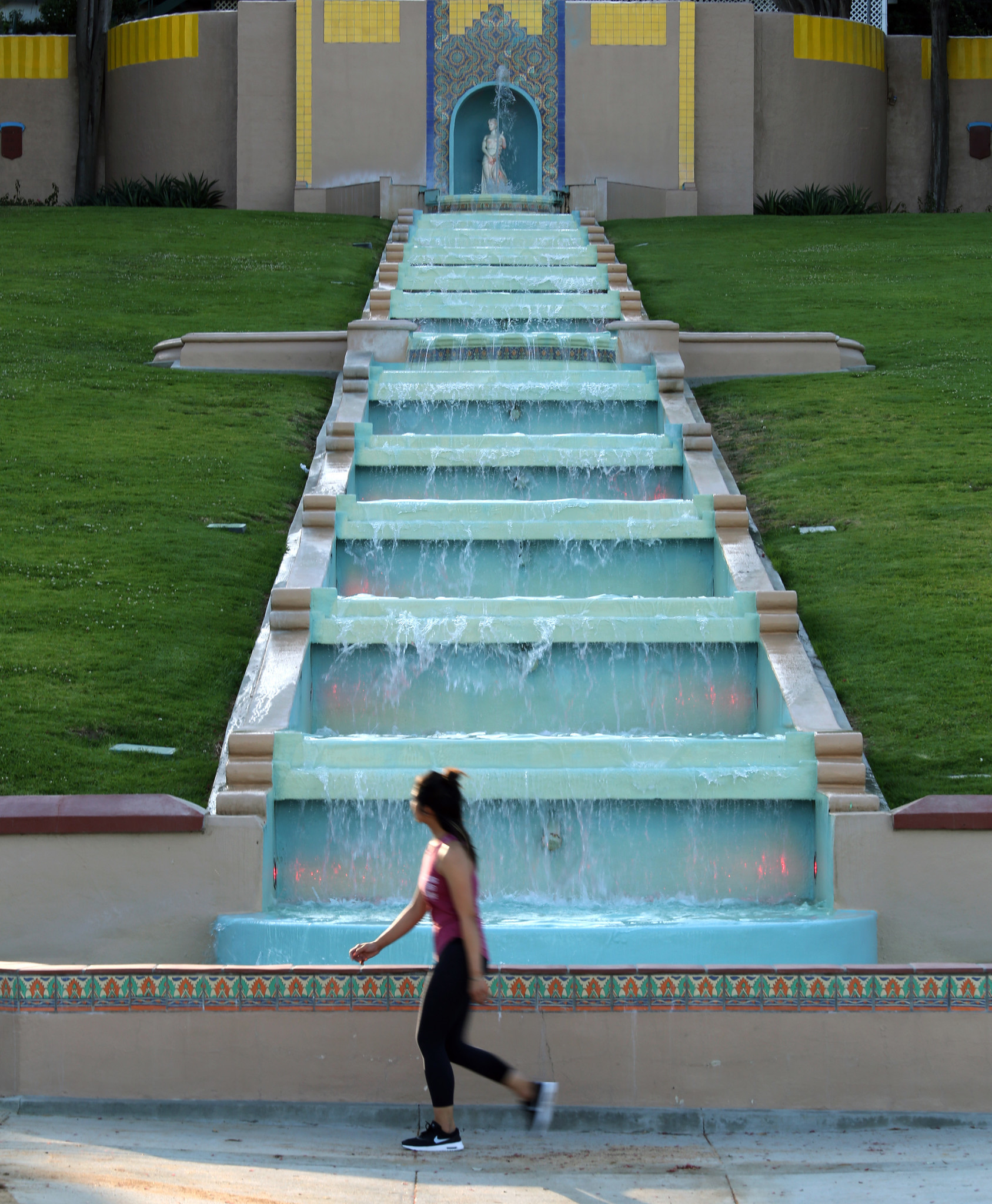 The multi-tiered fountain and the Athena statue that tops it are nostalgic reminders of the city's grand past, when a Greek developer named Peter Snyder decided to build Midwick View Estates, a luxury community of Spanish and Mediterranean style homes.