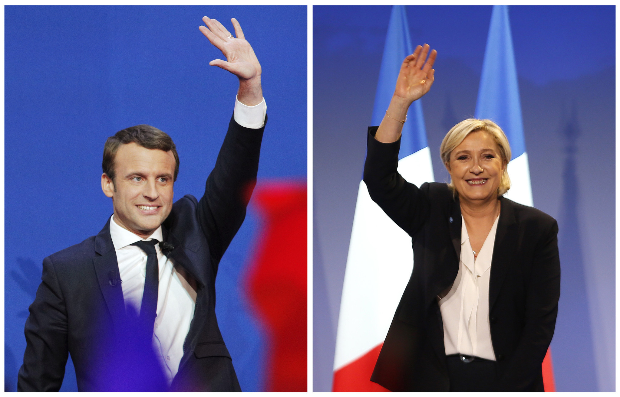Image result for macron waving