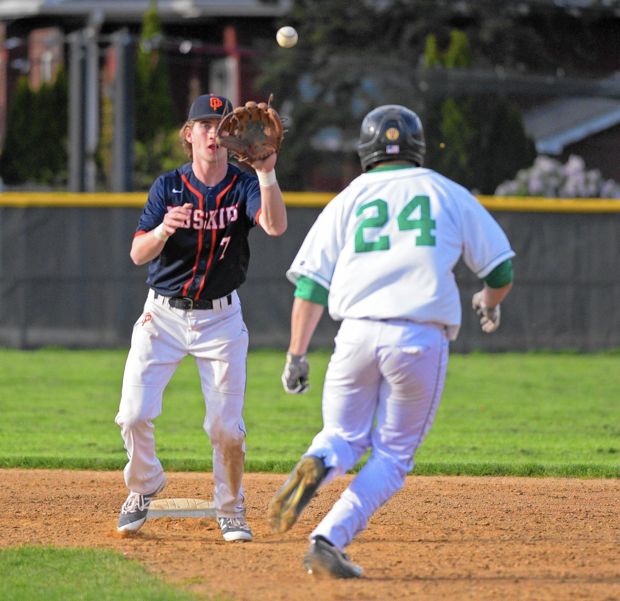 New closer ben klinger helps oprf baseball hold off york for Ben klinger