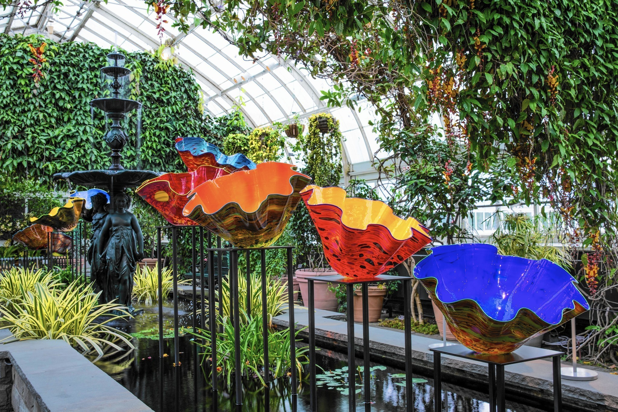 Chihuly glass exhibit blooms in the bronx chicago tribune - Bronx botanical garden free admission ...