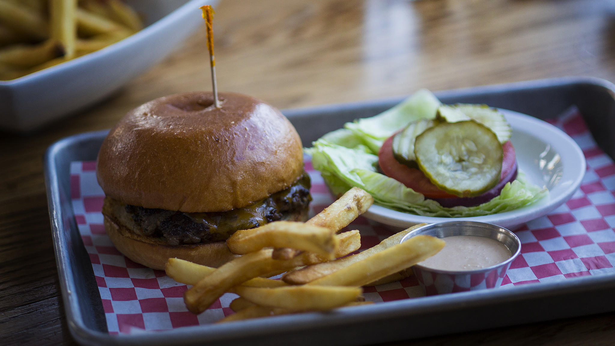 Chef April Bloomfield tasted this Classic Burger during her Burger Crawl stop at Cassells.