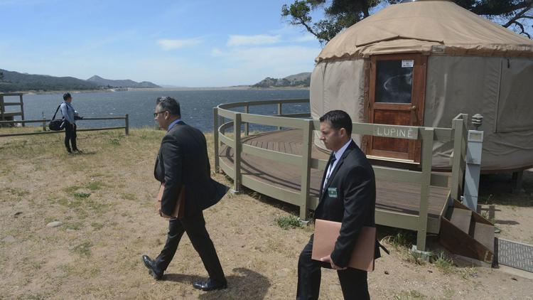 Los Angeles County sheriff's detectives search at Cachuma Lake north of Santa Barbara for a missing 5-year-old boy.