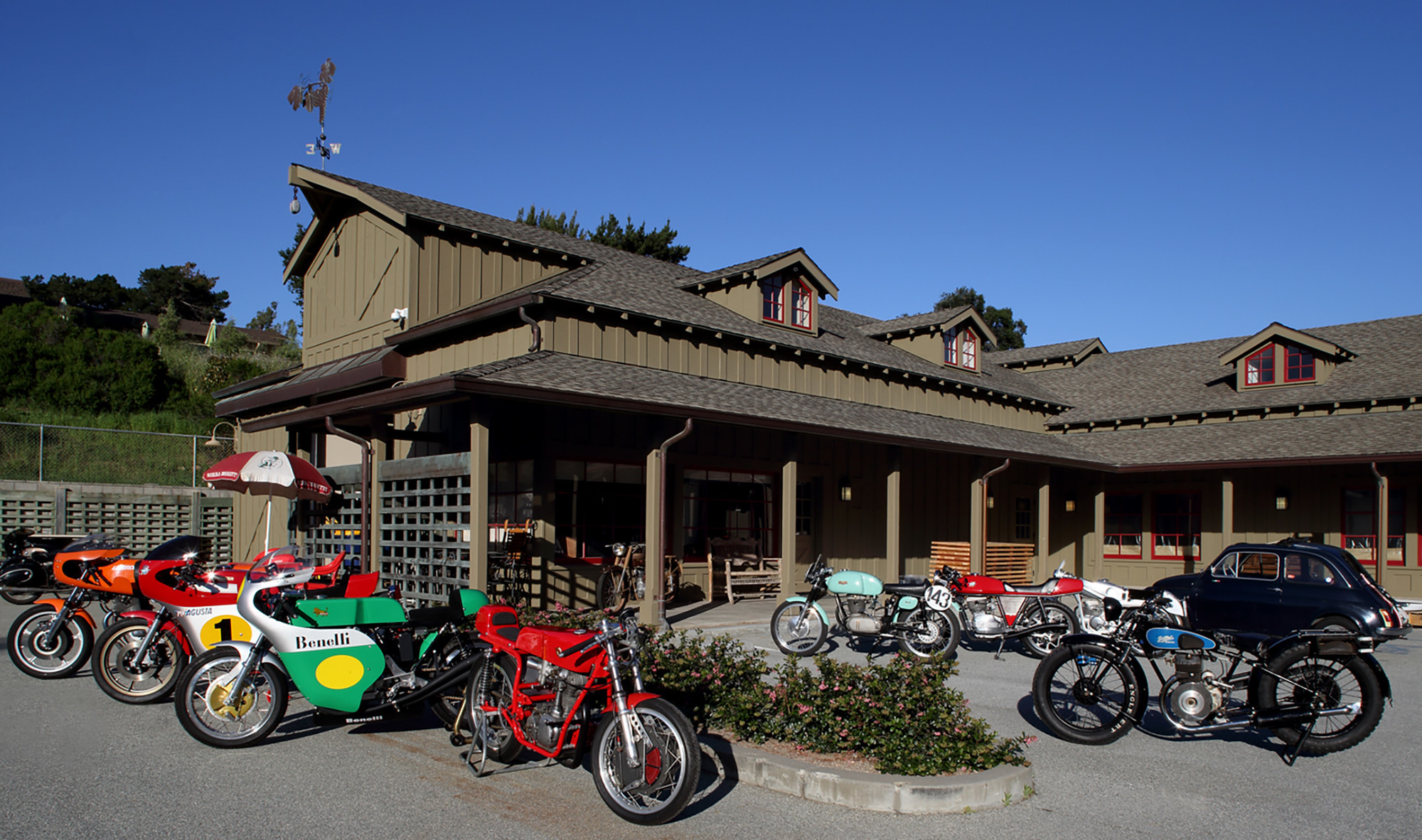 A visit to the Moto Talbott Collection motorcycle museum is part of this year's Quail Ride.
