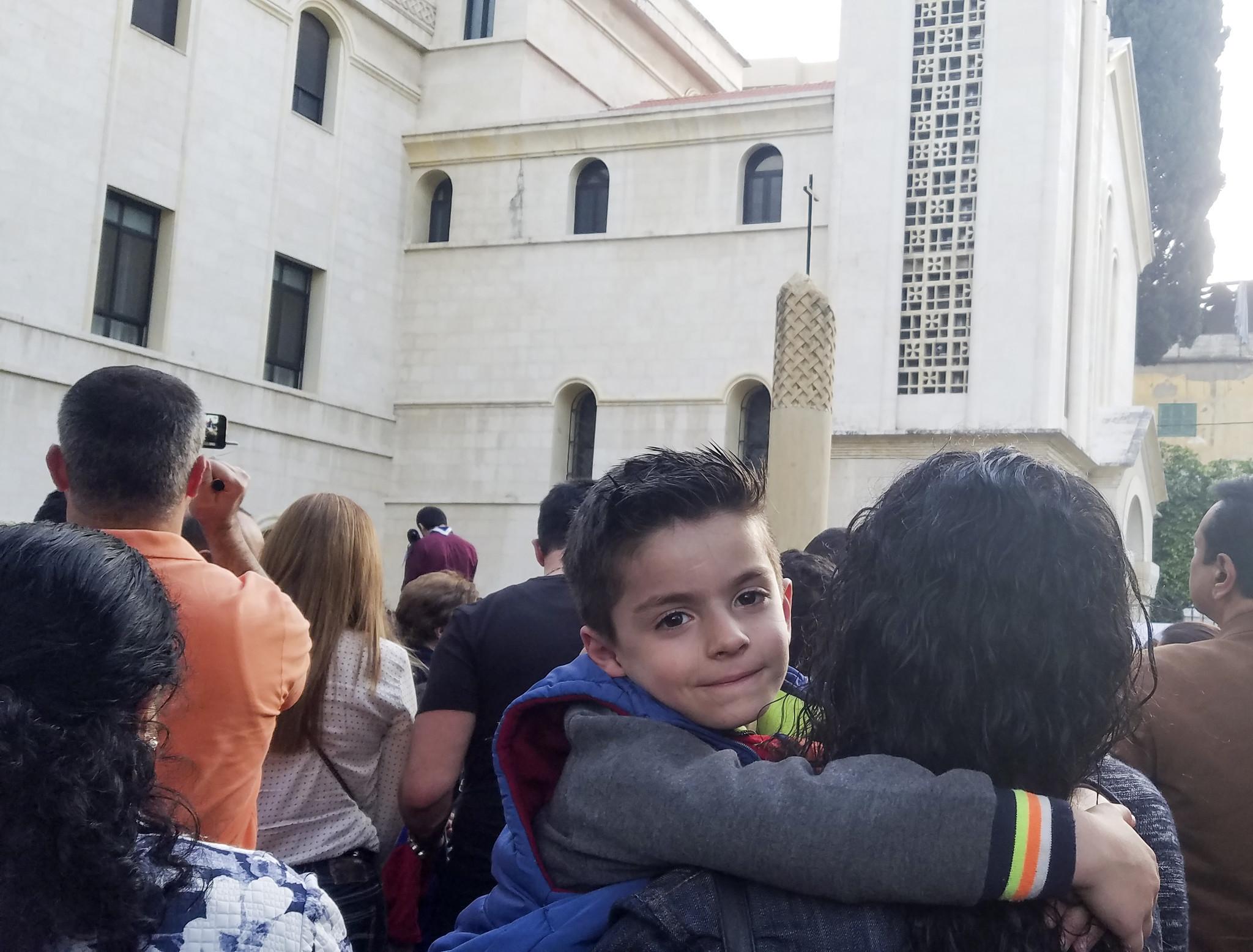 A procession in the Armenian Catholic Church in Beirut's Mar Mikhael neighborhood.