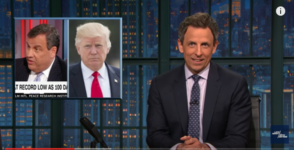 Seth Meyers makes a major scientific discovery about President Trump