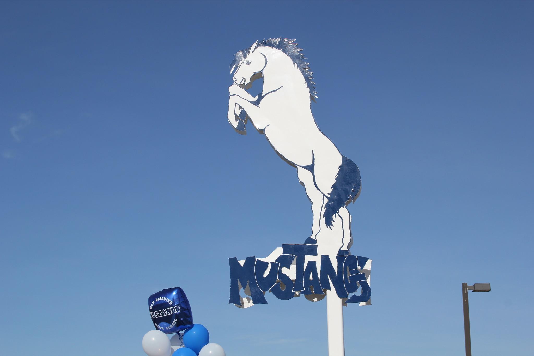 San Dieguito's metal Mustang