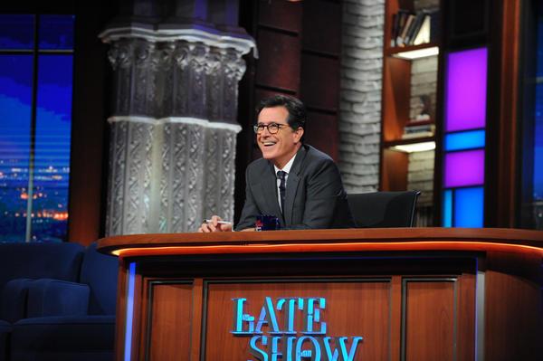 Stephen Colbert celebrates 100 days of President Trump