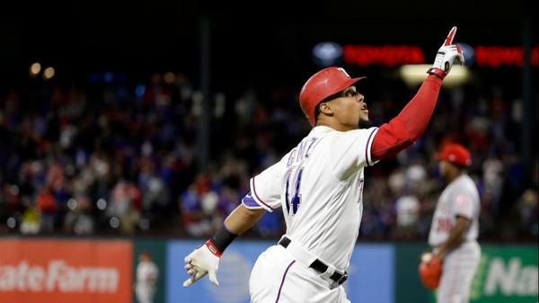 Angels fall to Rangers 6-3 as Carlos Gomez hits for the cycle