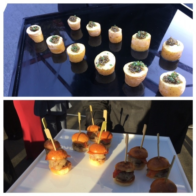 Wolfgang Puck-catered nibbles