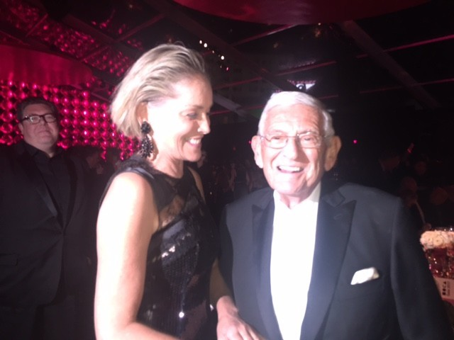 Sharon Stone and Eli Broad