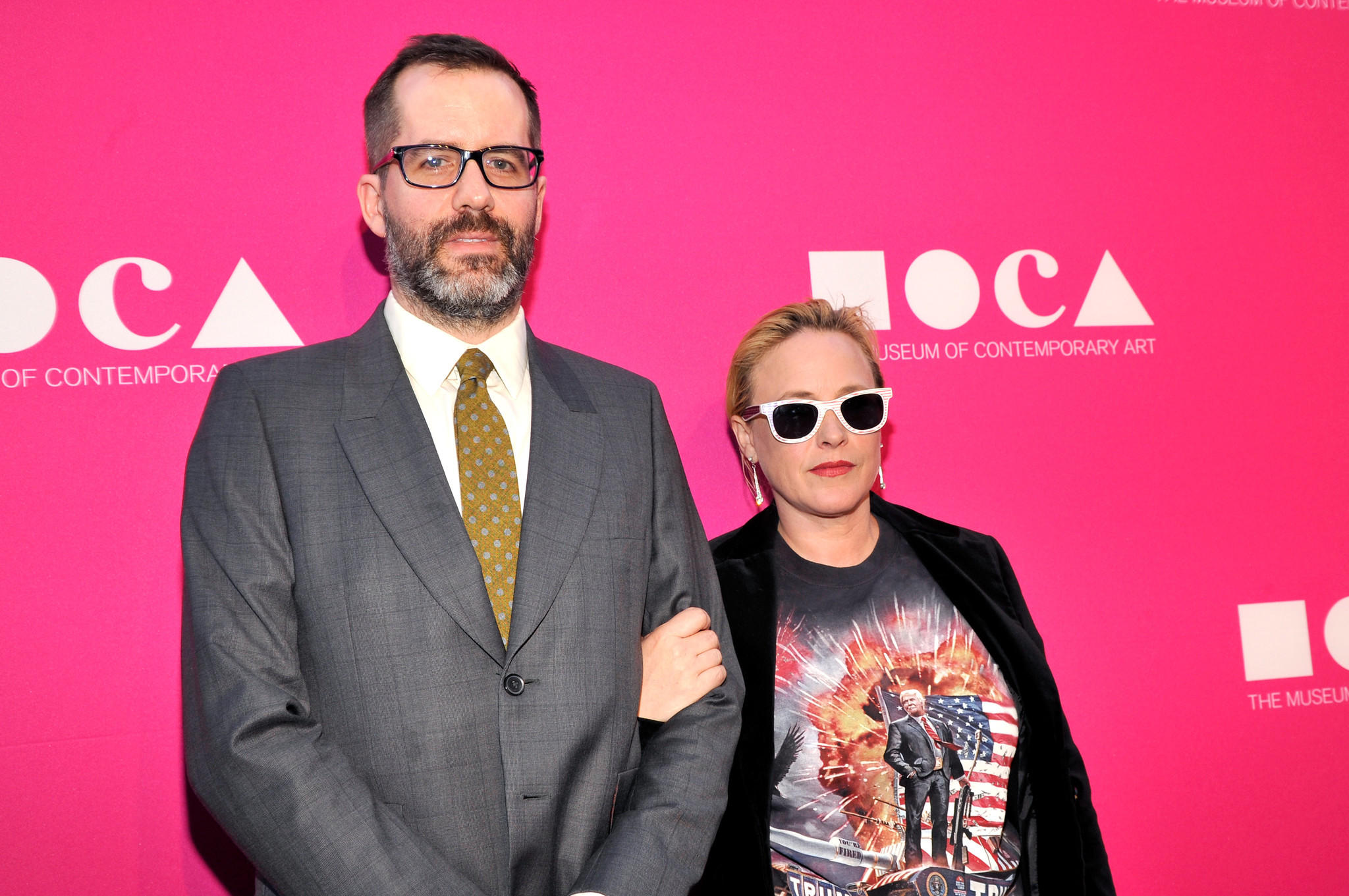 Artist Eric White and actress Patricia Arquette (John Sciulli / Getty Images for MOCA)