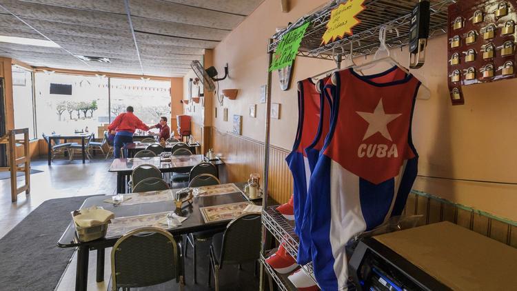 Inside the Cuban-themed El Marinero Restaurant in Grand Island.