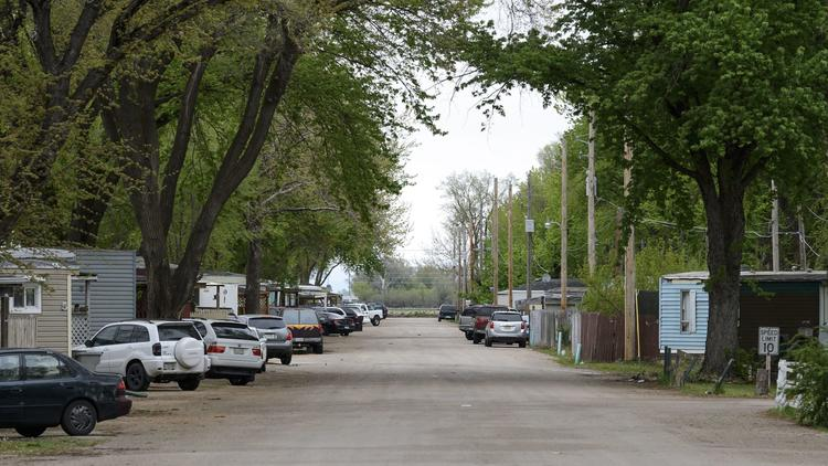 Grand Island's Capital Trailer Park, where many immigrants make their homes.