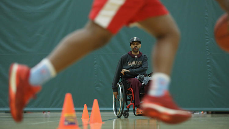 Photo gallery: Youth basketball coach Shawn Harrington at practice