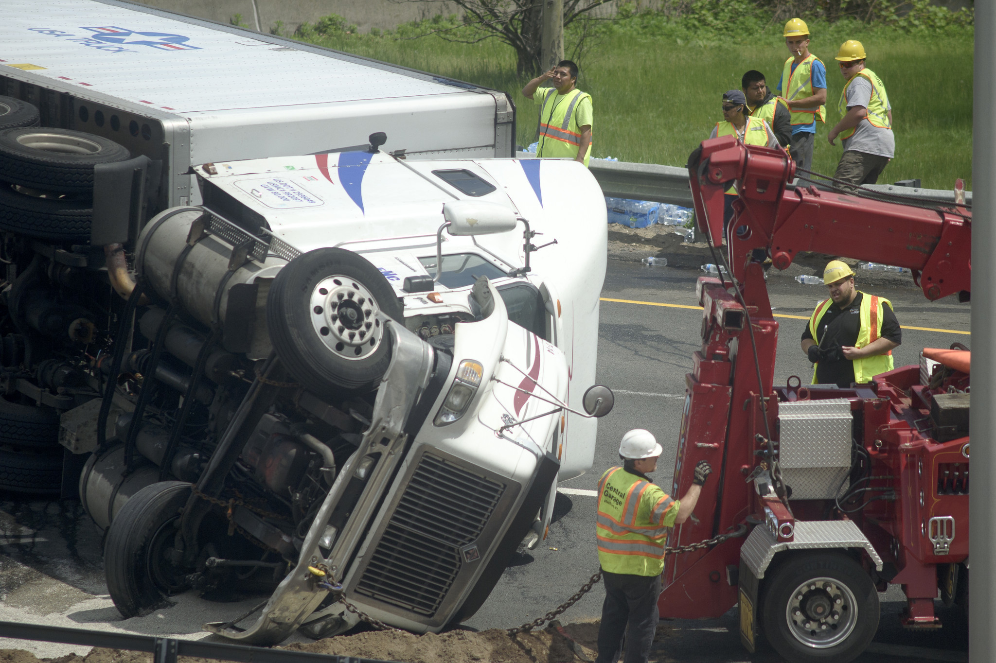 Driver Cited In Tractor Trailer Rollover That Closed I 91