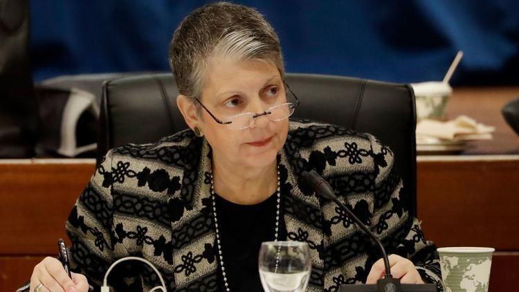 University of California President Janet Napolitano has defended her office's handling of its budget against a critical audit. (Marcio Jose Sanchez / Associated Press)