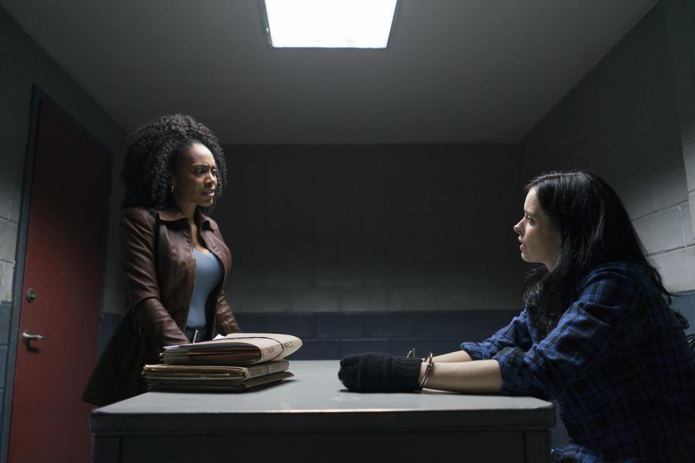 "Simone Missick, left, and Krysten Ritter in ""Marvel's the Defenders."" (Sarah Shatz / Netflix)"