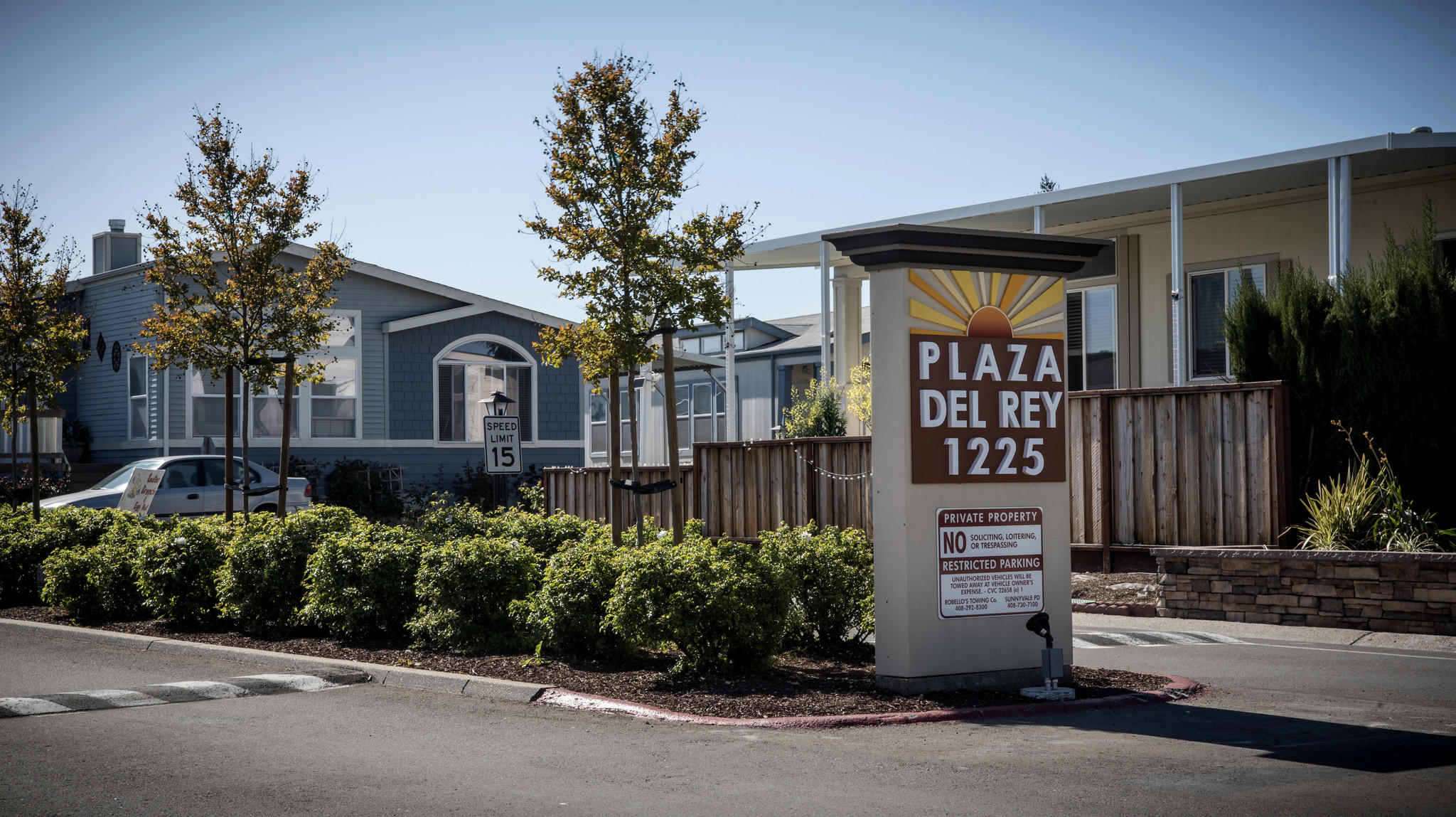 The Plaza Del Rey mobile home park in the heart of Silicon Valley was sold to a private equity firm two years ago. Residents now worry that rents will rise to levels that might force them to leave.