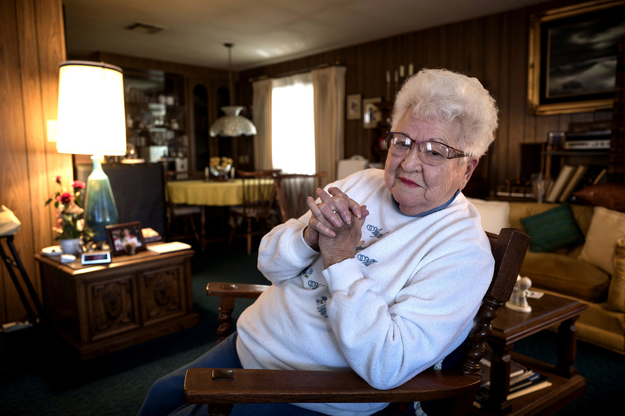 "Dorothy ""Dot"" Niblock at her home at the Plaza del Rey mobile home park. Niblock moved into the park 44 years ago. She designed her two-bedroom home with her late husband."