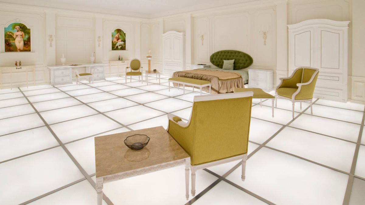 "Paul Kember's re-creation of a room from ""2001: A Space Odyssey."""