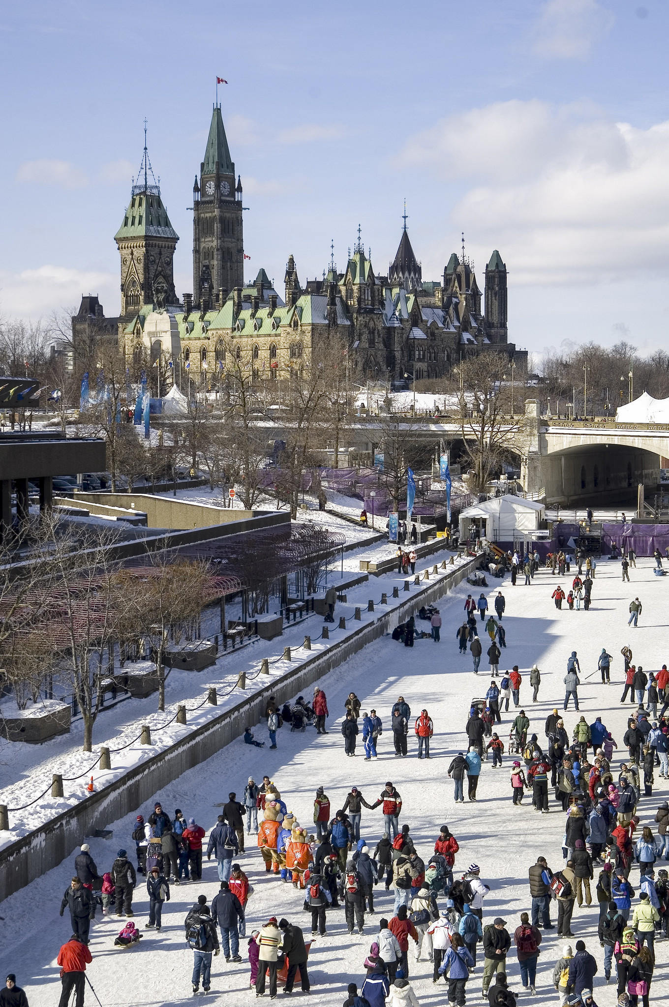 Skateway on the frozen Rideau Canal.