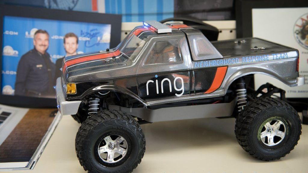 A remote-controlled toy car in the office of Jamie Siminoff.