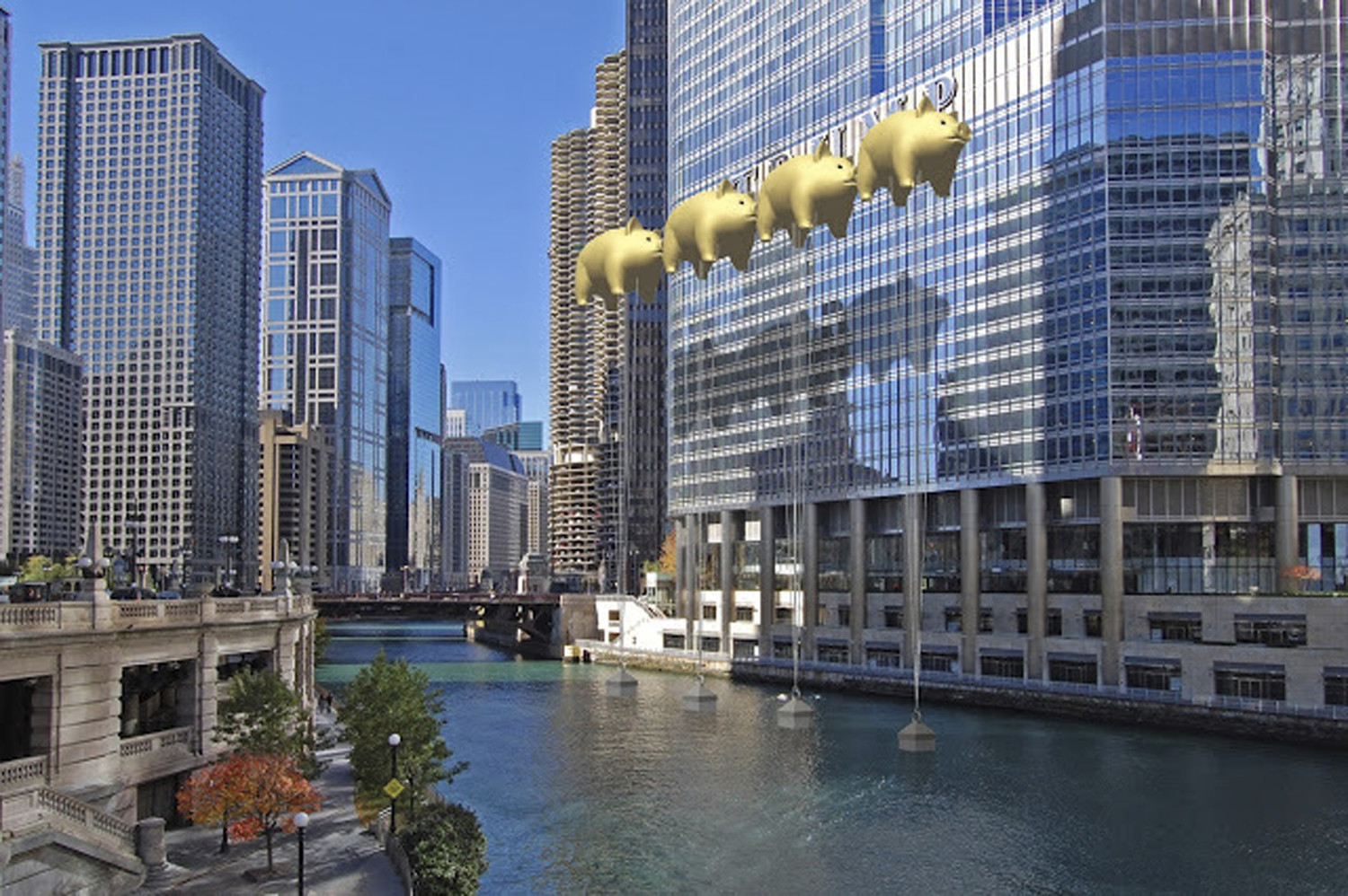 will tower sign be obscured by flying pigs chicago tribune