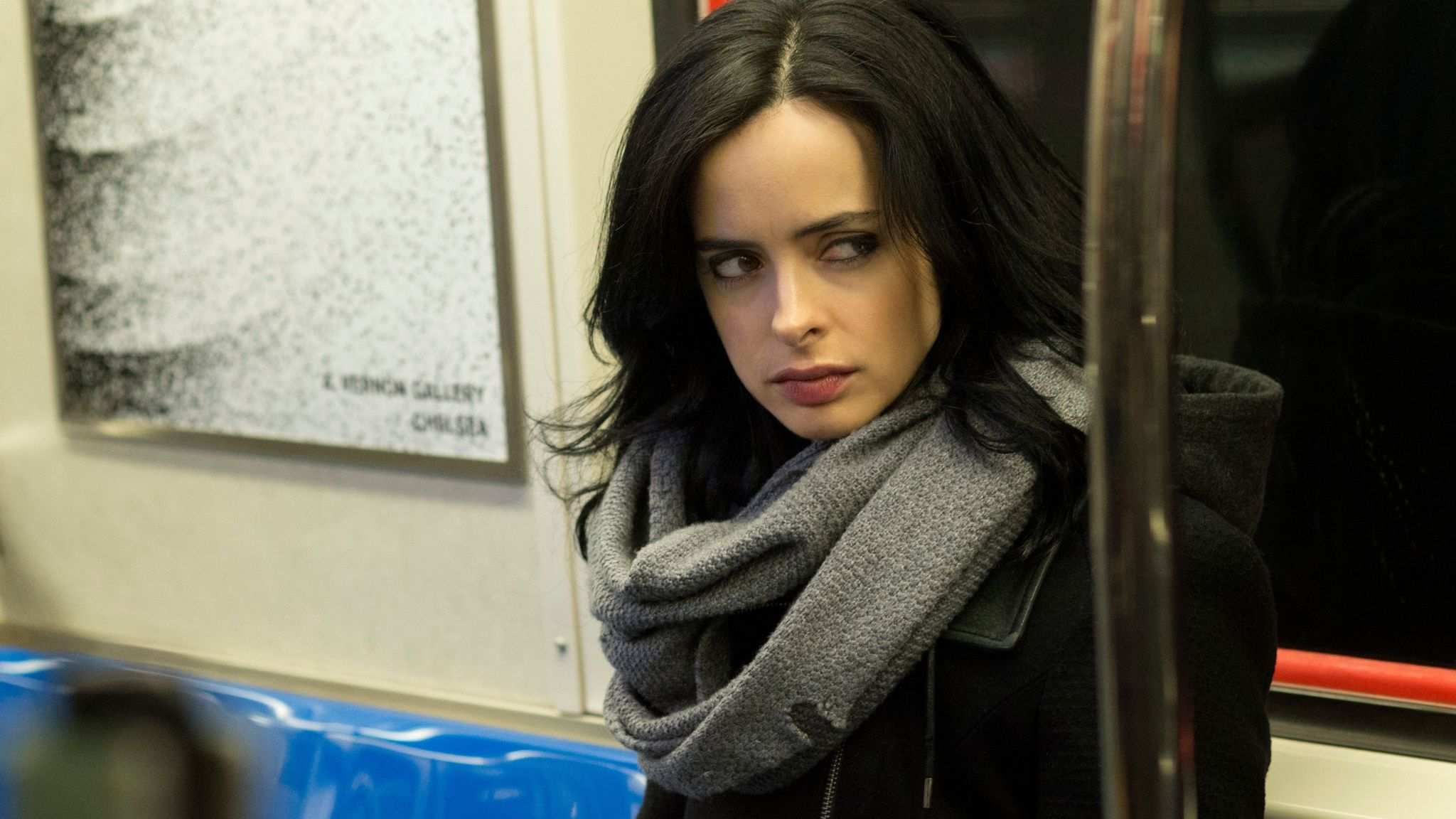 "Krysten Ritter as Jessica Jones in ""Marvel's Jessica Jones."""